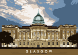 Glasgow: The Mitchell Library – poster - natural - Indy Prints by Stewart Bremner