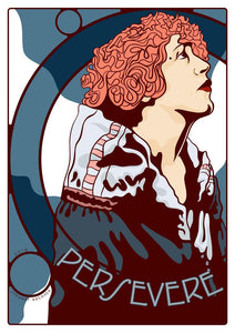 Persevere – poster - Indy Prints by Stewart Bremner