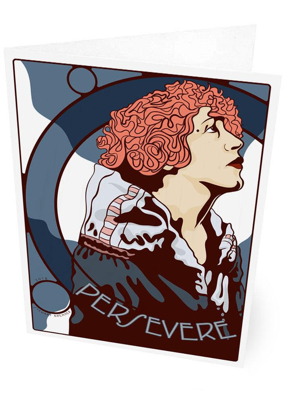 Persevere – card - Indy Prints by Stewart Bremner