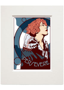 Persevere – small mounted print - Indy Prints by Stewart Bremner
