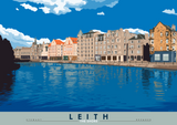 Leith: The Shore – poster - natural - Indy Prints by Stewart Bremner