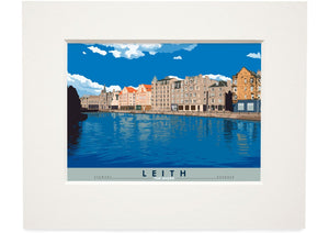 Leith: The Shore – small mounted print - Indy Prints by Stewart Bremner