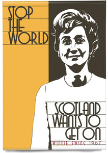 Scotland wants to get on – magnet - Indy Prints by Stewart Bremner