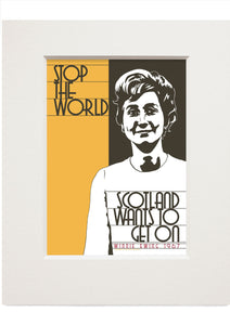 Scotland wants to get on – small mounted print