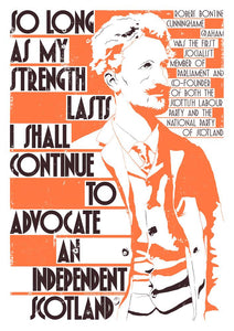 So long as my strength lasts – poster - Indy Prints by Stewart Bremner