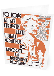 So long as my strength lasts – card - Indy Prints by Stewart Bremner