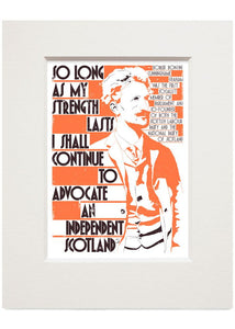 So long as my strength lasts – small mounted print - Indy Prints by Stewart Bremner