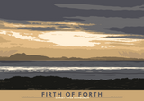 Firth of Forth: Sunset Over Edinburgh – poster - natural - Indy Prints by Stewart Bremner