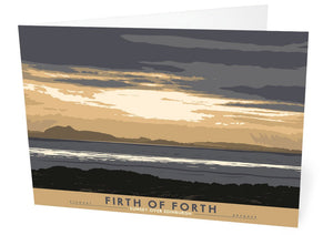 Firth of Forth: Sunset Over Edinburgh – card