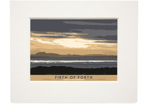Firth of Forth: Sunset Over Edinburgh – small mounted print
