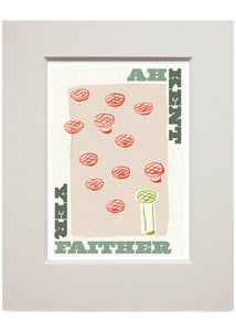 Ah kent yer faither – small mounted print - Indy Prints by Stewart Bremner