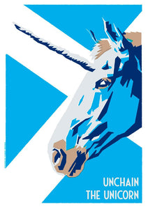 Unchain the unicorn – poster - Indy Prints by Stewart Bremner