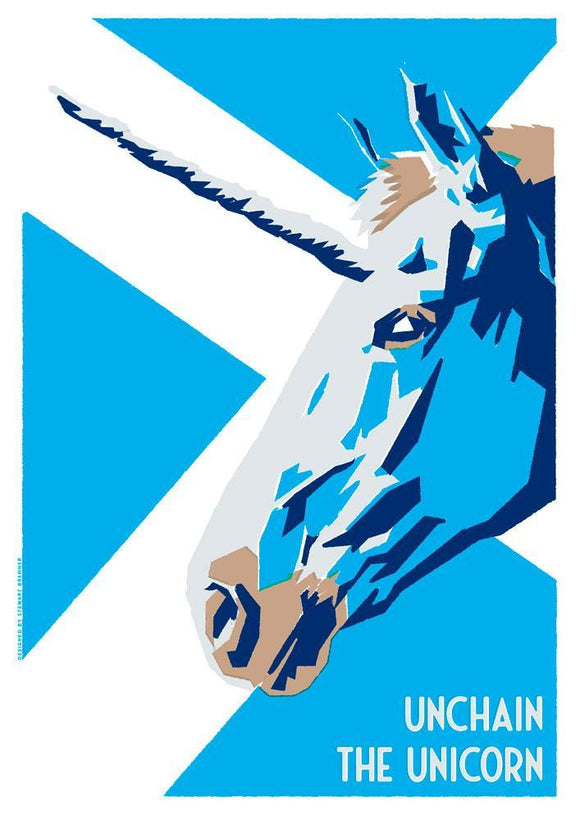 Unchain the unicorn – giclée print - Indy Prints by Stewart Bremner