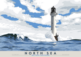 North Sea: Bell Rock Lighthouse – giclée print - natural - Indy Prints by Stewart Bremner