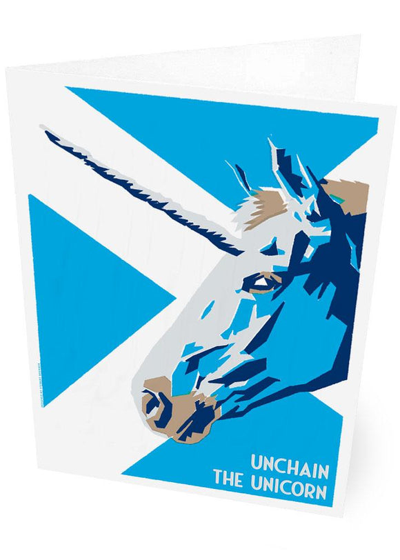 Unchain the unicorn – card - Indy Prints by Stewart Bremner