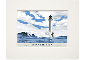 North Sea: Bell Rock Lighthouse – small mounted print - Indy Prints by Stewart Bremner