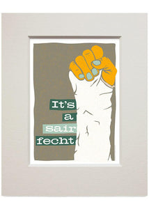 It's a sair fecht – small mounted print - Indy Prints by Stewart Bremner