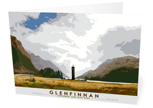 Glenfinnan: Monument and Loch Shiel – card