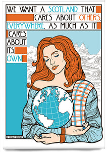 We want a Scotland that cares – magnet - Indy Prints by Stewart Bremner