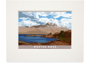 Wester Ross: Loch Maree and Slioch – small mounted print