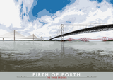 Firth of Forth: The Three Bridges – giclée print - natural - Indy Prints by Stewart Bremner