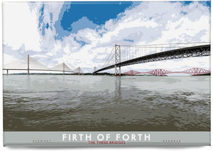 Firth of Forth: The Three Bridges – magnet - Indy Prints by Stewart Bremner