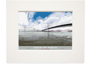 Firth of Forth: The Three Bridges – small mounted print