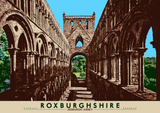 Roxburghshire: Jedburgh Abbey – poster - natural - Indy Prints by Stewart Bremner