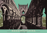Roxburghshire: Jedburgh Abbey – poster - green - Indy Prints by Stewart Bremner