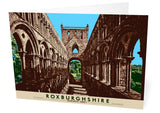 Roxburghshire: Jedburgh Abbey – card - natural - Indy Prints by Stewart Bremner