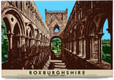 Roxburghshire: Jedburgh Abbey – magnet - natural - Indy Prints by Stewart Bremner