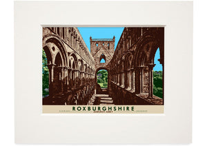 Roxburghshire: Jedburgh Abbey – small mounted print