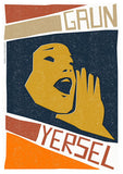 Gaun yersel – poster - orange - Indy Prints by Stewart Bremner