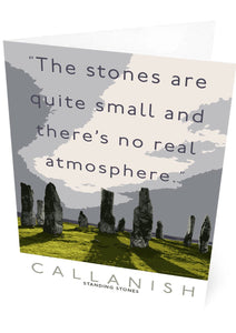 The Callanish Stones have no atmosphere – card