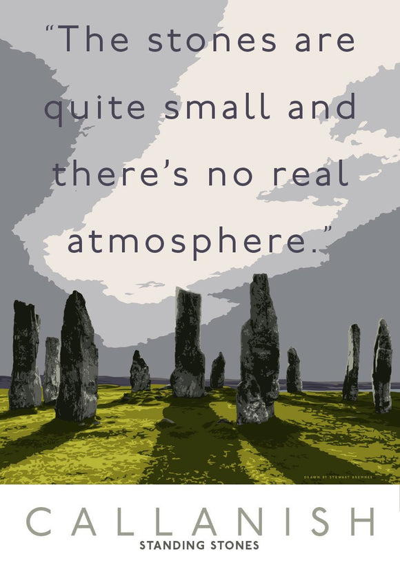 The Callanish Stones have no atmosphere – giclée print