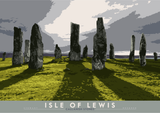 Isle of Lewis: Callanish Stones – poster - natural - Indy Prints by Stewart Bremner