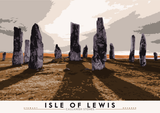 Isle of Lewis: Callanish Stones – poster - violet - Indy Prints by Stewart Bremner