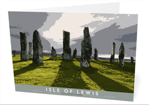 Isle of Lewis: Callanish Stones – card - Indy Prints by Stewart Bremner