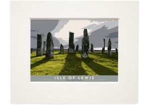 Isle of Lewis: Callanish Stones – small mounted print