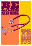 Be lang seek that ye may be suin hale – poster - orange - Indy Prints by Stewart Bremner