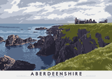 Aberdeenshire: Slains Castle – poster - natural - Indy Prints by Stewart Bremner