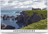 Aberdeenshire: Slains Castle – magnet - natural - Indy Prints by Stewart Bremner