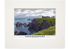 Aberdeenshire: Slains Castle – small mounted print