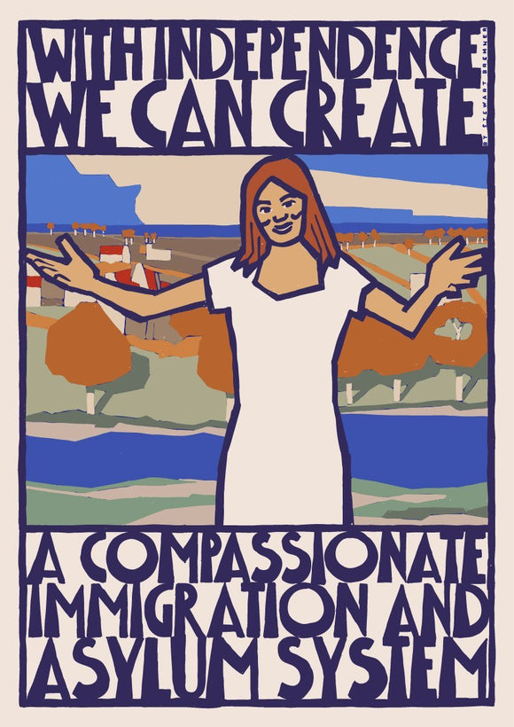 Compassionate immigration and asylum – giclée print - Indy Prints by Stewart Bremner