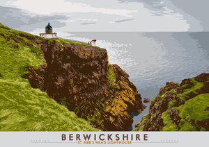Berwickshire: St Abb's Head Lighthouse - Indy Prints by Stewart Bremner