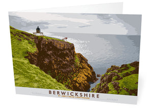 Berwickshire: St Abb's Head Lighthouse – card - Indy Prints by Stewart Bremner