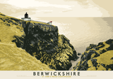 Berwickshire: St Abb's Head Lighthouse – poster - yellow - Indy Prints by Stewart Bremner