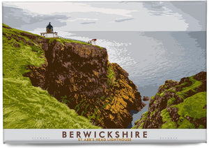 Berwickshire: St Abb's Head Lighthouse – magnet - Indy Prints by Stewart Bremner