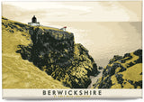 Berwickshire: St Abb's Head Lighthouse – magnet - yellow - Indy Prints by Stewart Bremner
