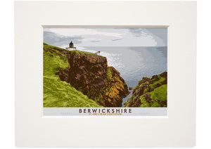 Berwickshire: St Abb's Head Lighthouse – small mounted print - Indy Prints by Stewart Bremner
